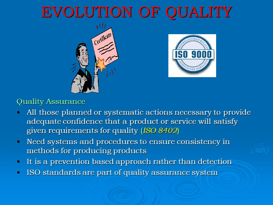 the evolution of total quality management Total quality management (tqm) is a continuous effort by the management and the employees of an organization to ensure long term.