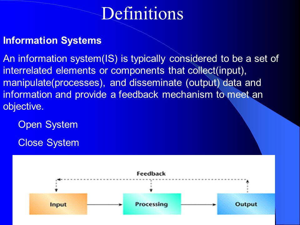 Definitions Information Systems