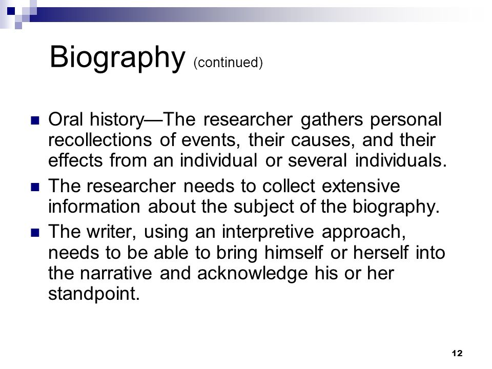 Biography (continued)