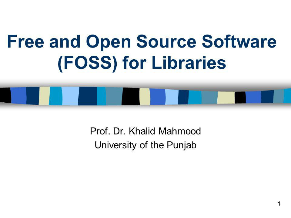 Free and Open Source Software (FOSS) for Libraries