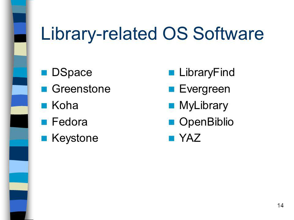 Library-related OS Software