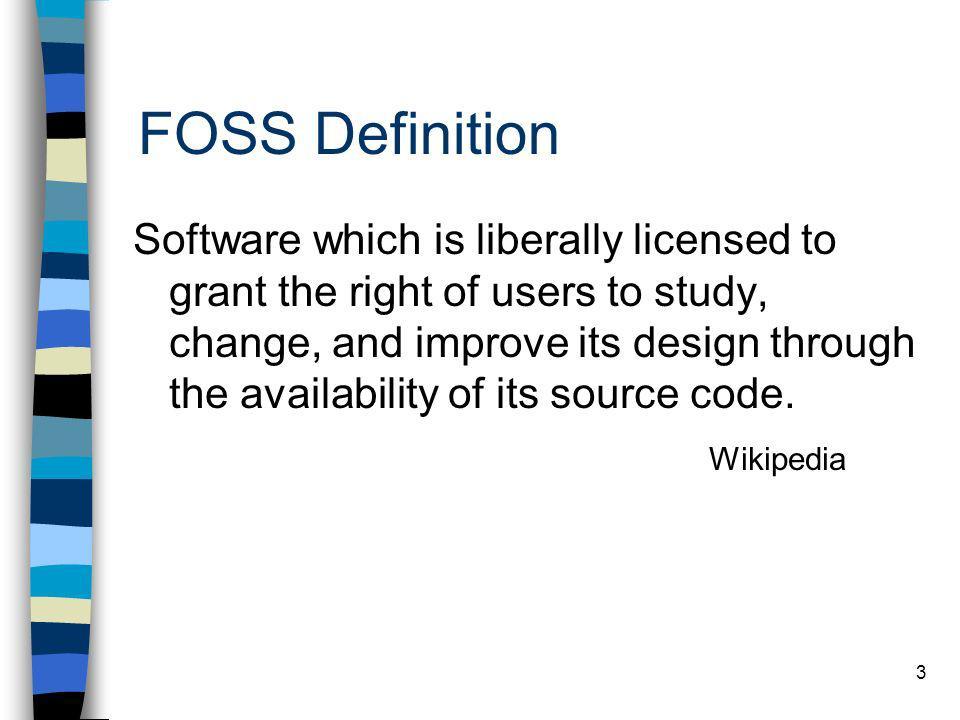 FOSS Definition