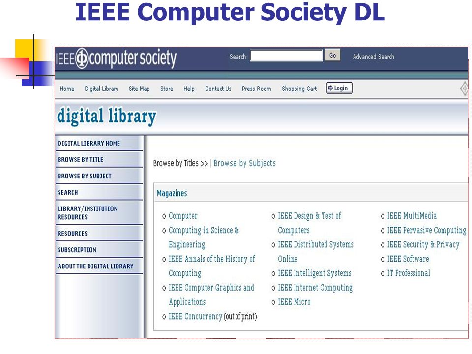IEEE Computer Society DL