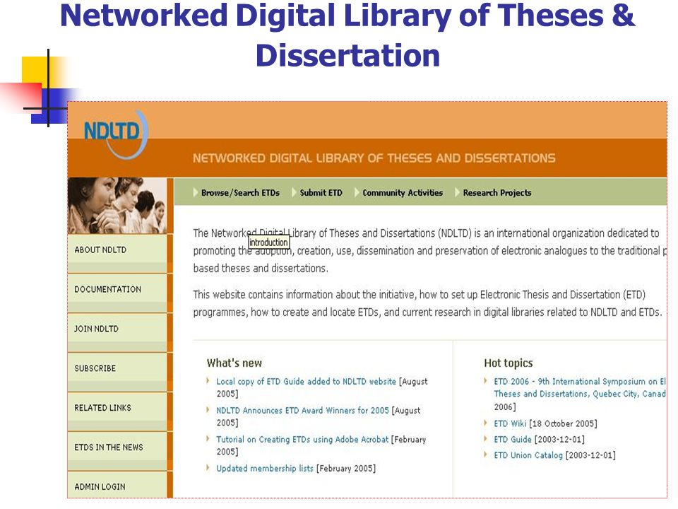 Networked Digital Library of Theses & Dissertation