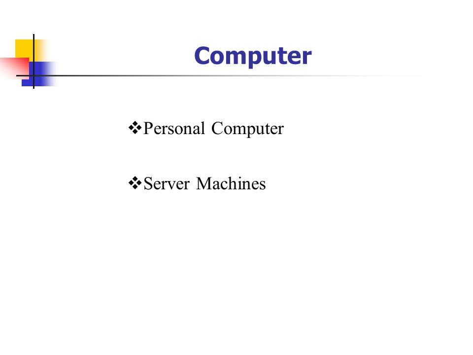 Computer Personal Computer Server Machines