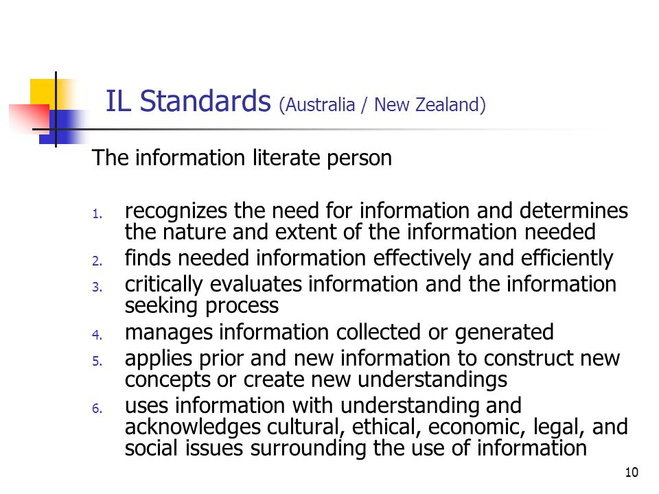 IL Standards (Australia / New Zealand)