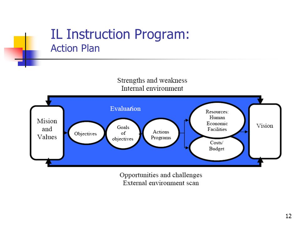 IL Instruction Program: Action Plan