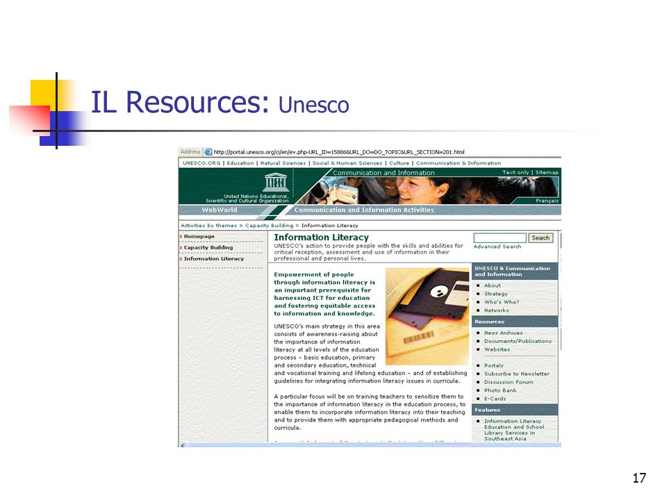 IL Resources: Unesco