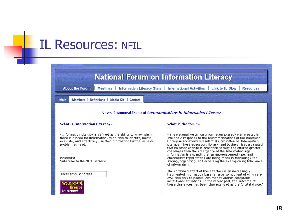 IL Resources: NFIL