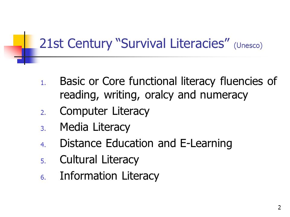 21st Century Survival Literacies (Unesco)