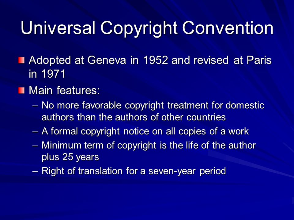 Universal Copyright Convention