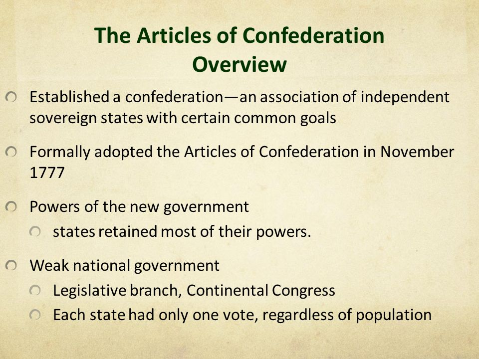 """an introduction to the history of the articles of confederation The document set forth """"articles of confederation and perpetual union between  the states of new hampshire, massachusetts-bay, rhode island and."""