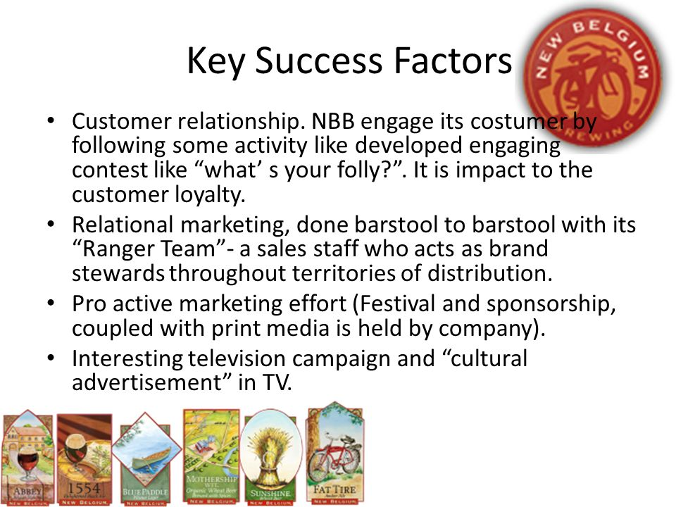 key success factors for online advertising Rate each competitor on each of the key success factors  advertising themes, ad agency used, sales force success rate, online promotional strategy.