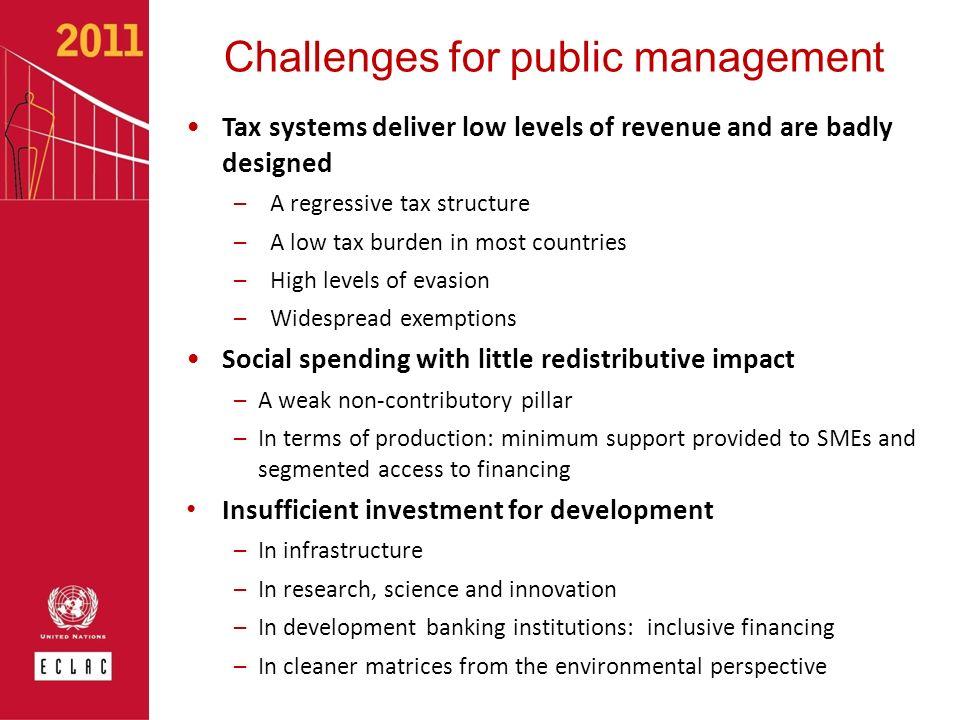 Challenges for public management