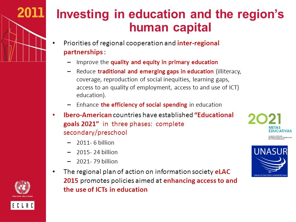 Investing in education and the region's human capital