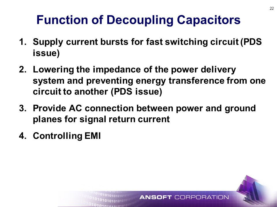 Function of Decoupling Capacitors