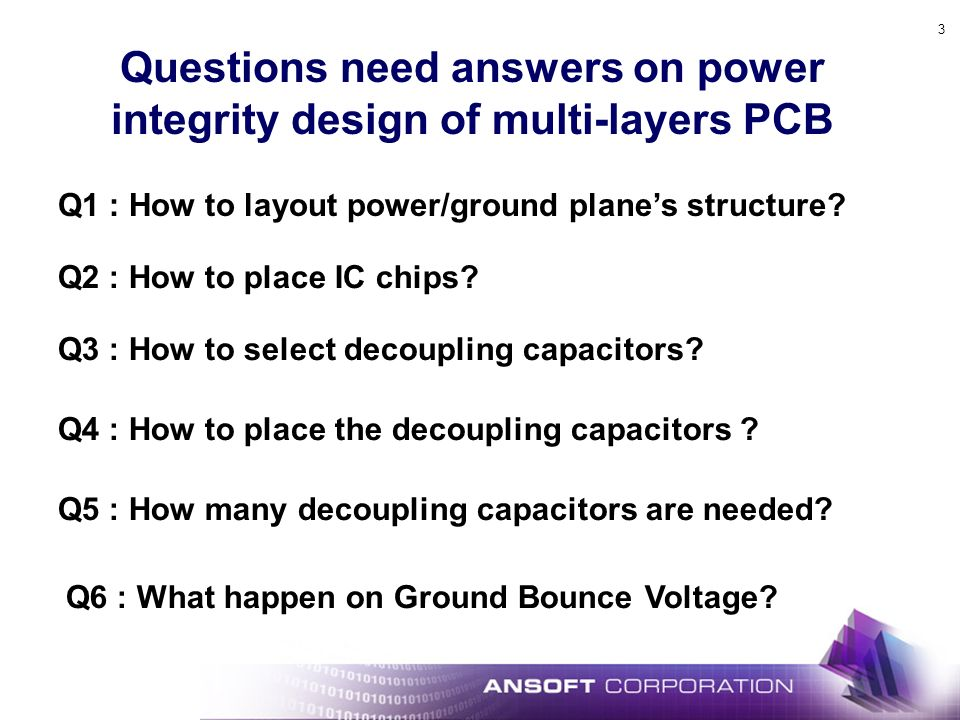 Questions need answers on power integrity design of multi-layers PCB