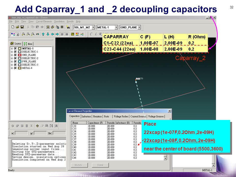 Add Caparray_1 and _2 decoupling capacitors