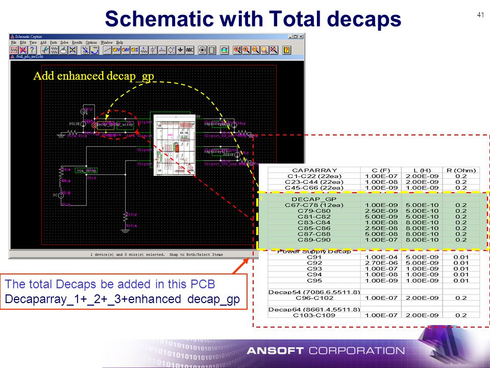 Schematic with Total decaps