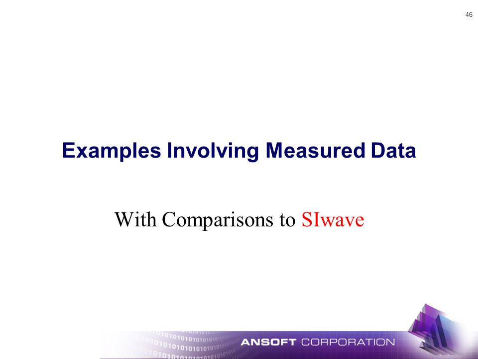 Examples Involving Measured Data