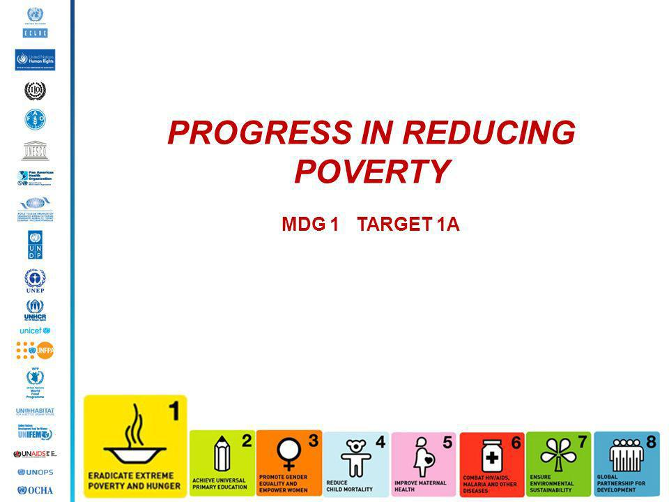 PROGRESS IN REDUCING POVERTY