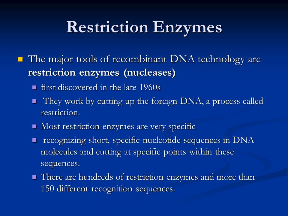 Recombinant Dna Technology Ppt Video Online Download