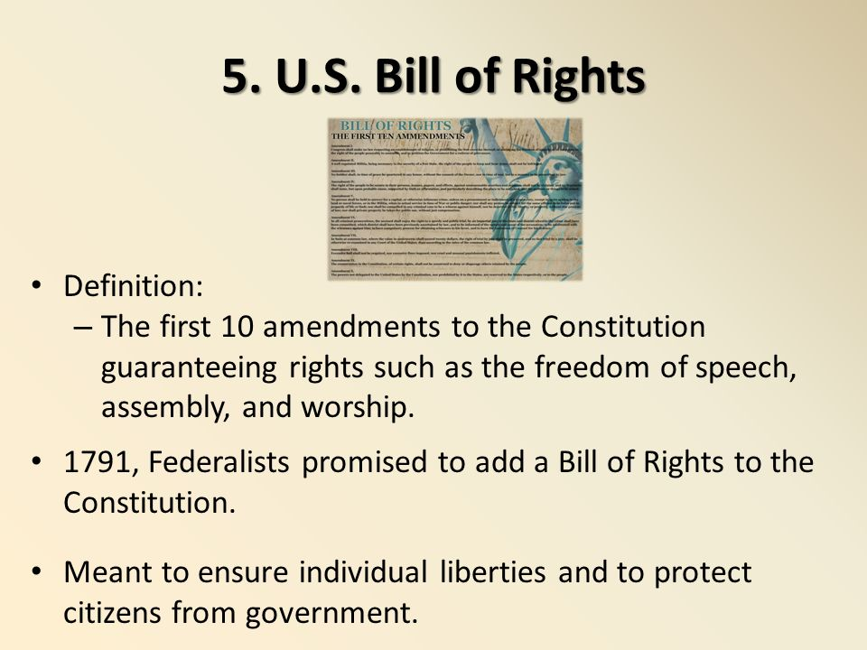 An essay on american government after the revolutionary war and the bill of rights