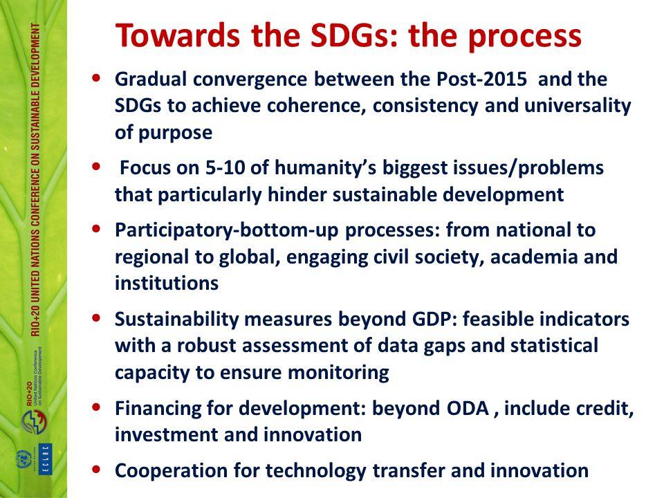 Towards the SDGs: the process