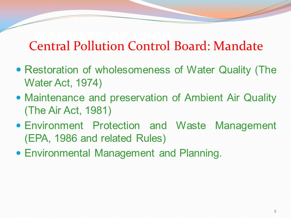 the 1981 act concerning environmental protection and waste management The relevant legislations are the factories act, 1948, the public liability insurance act, 1991, the national environment tribunal act, 1995 and rules and notifications under the environmental act some of the rules dealing with hazardous waste management are discussed below:.