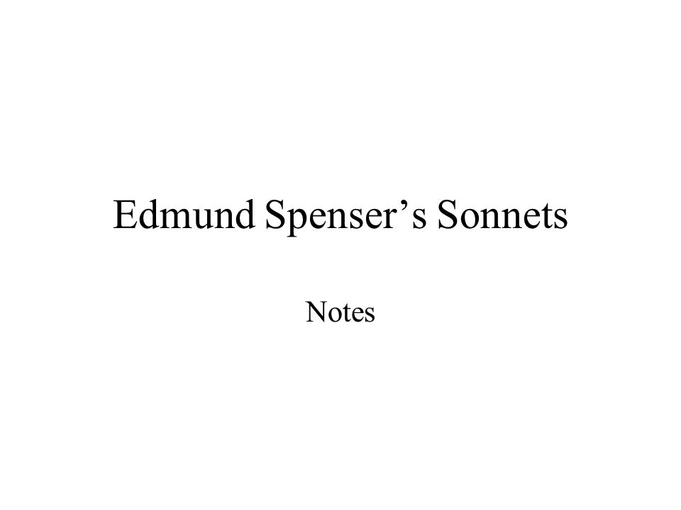 analysis of sonnet 79 by edmund spencer