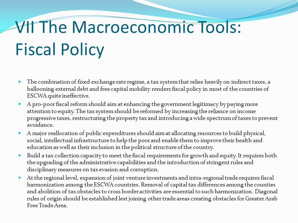 VII The Macroeconomic Tools: Fiscal Policy