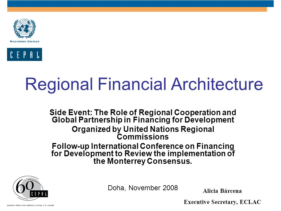 Regional Financial Architecture