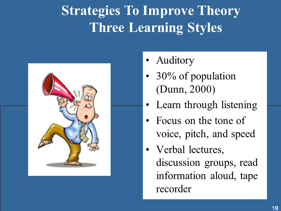 Strategies To Improve Theory Three Learning Styles