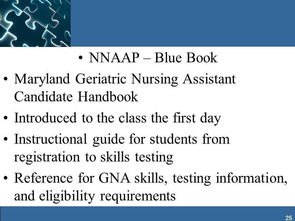Maryland Geriatric Nursing Assistant Candidate Handbook
