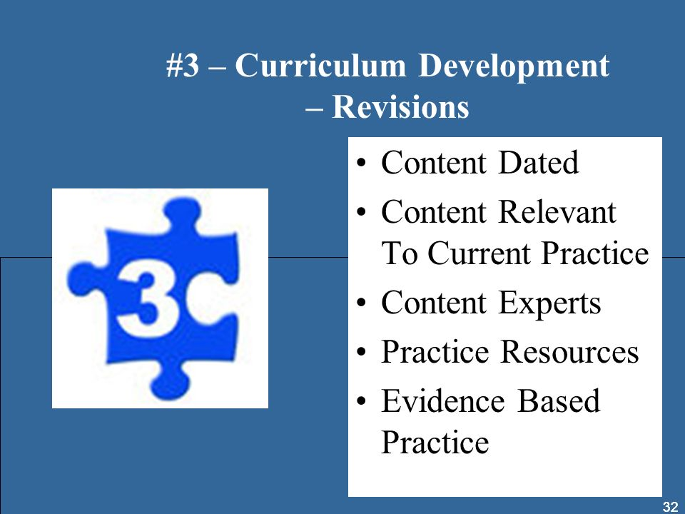 #3 – Curriculum Development – Revisions