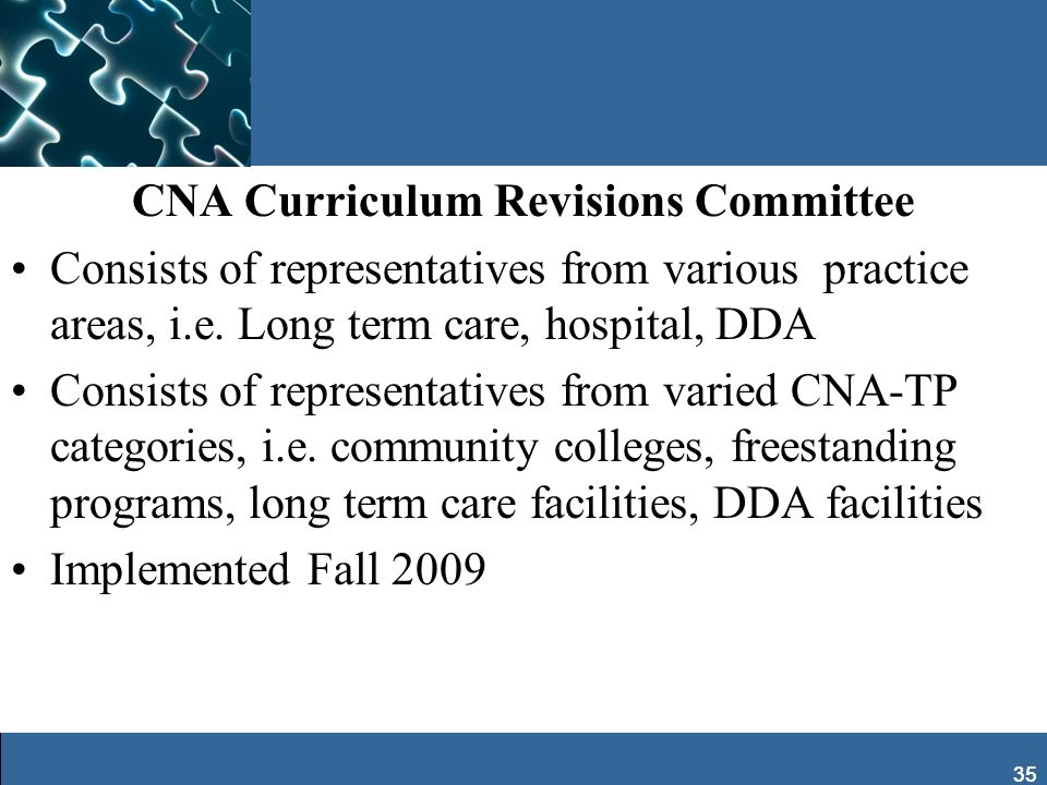 CNA Curriculum Revisions Committee