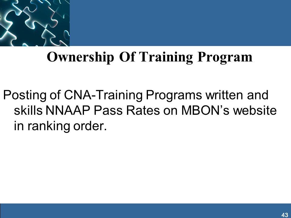 Ownership Of Training Program