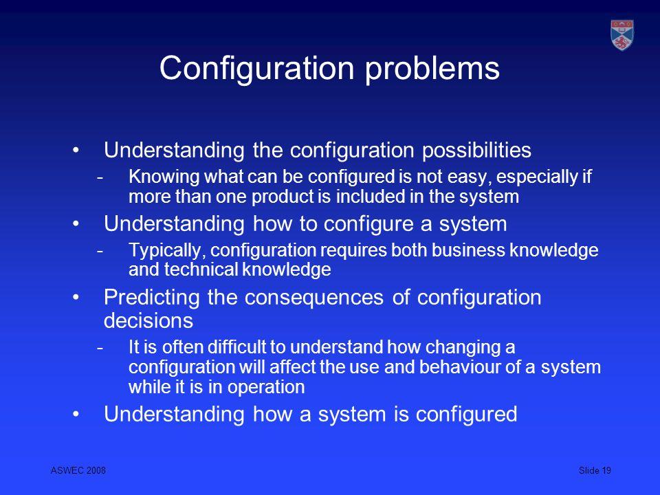 Configuration problems