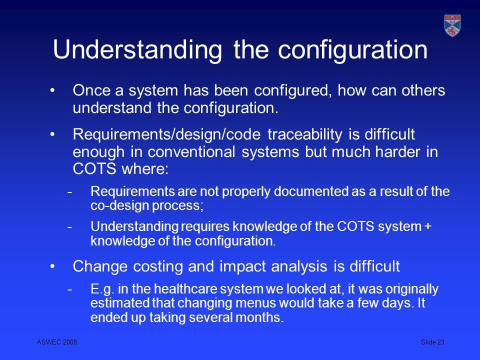 Understanding the configuration