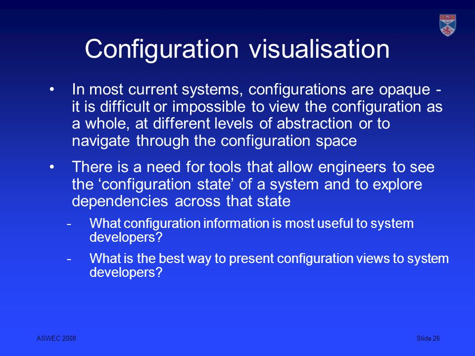 Configuration visualisation