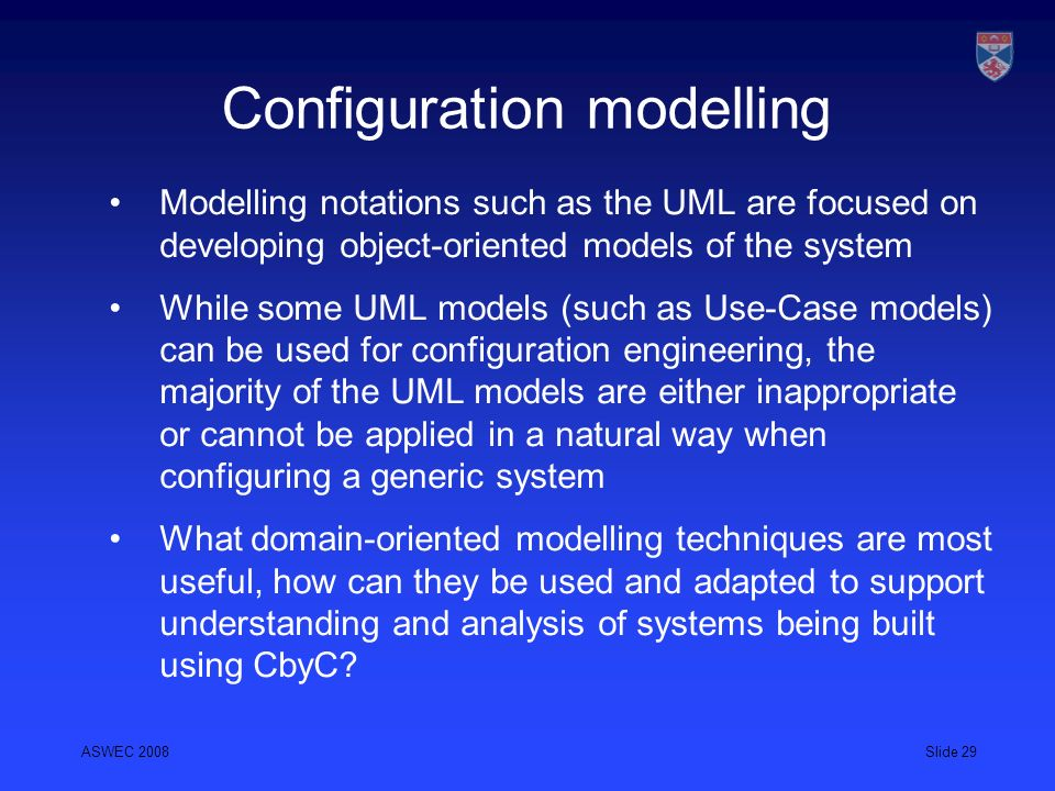 Configuration modelling