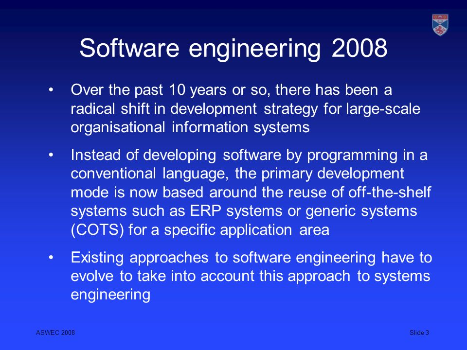 Software engineering 2008