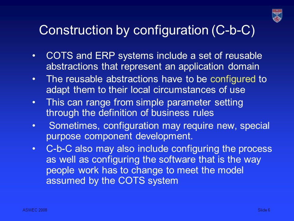 Construction by configuration (C-b-C)
