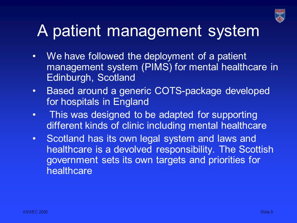 A patient management system