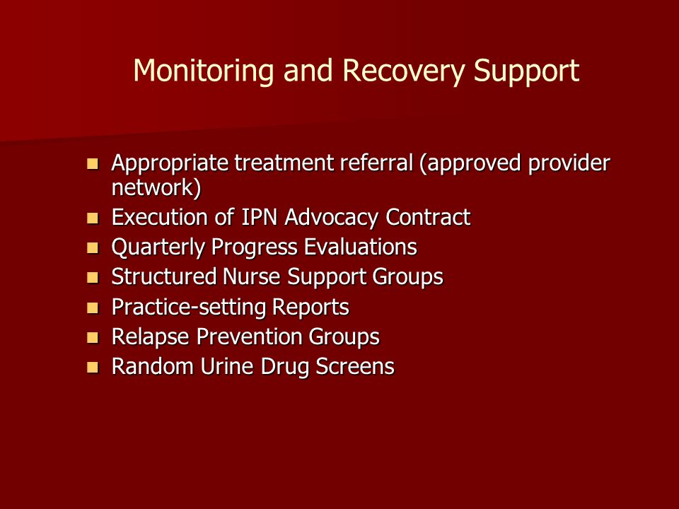 Monitoring and Recovery Support