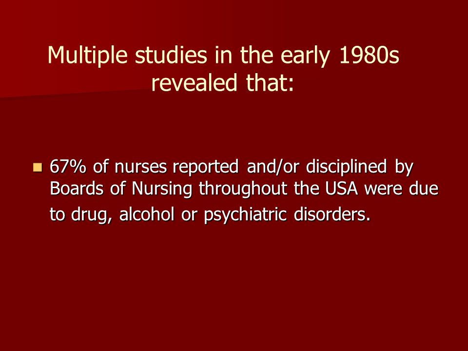 Multiple studies in the early 1980s revealed that: