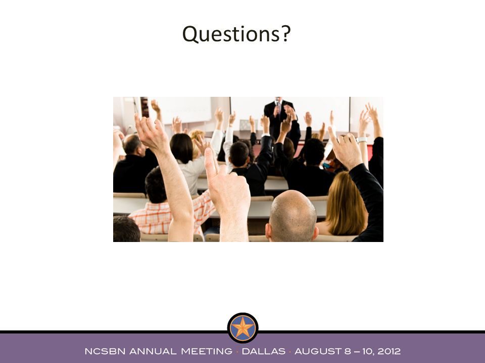 Questions The committee wishes to thank all member boards who reviewed the test plan and provided feed back.