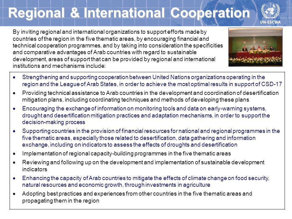 Regional & International Cooperation