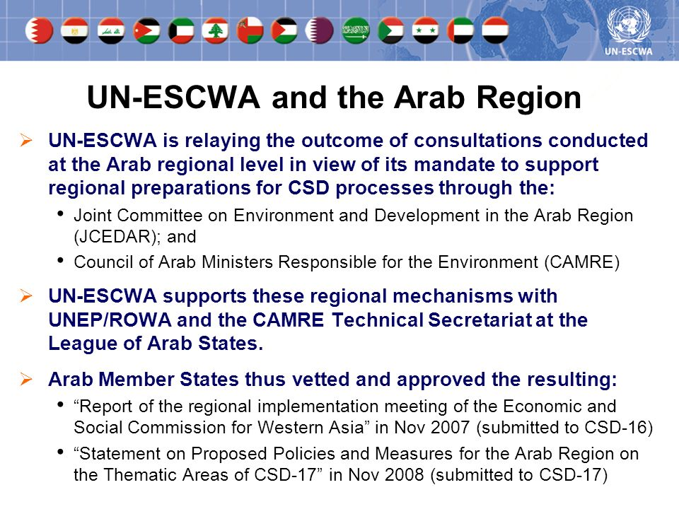 UN-ESCWA and the Arab Region