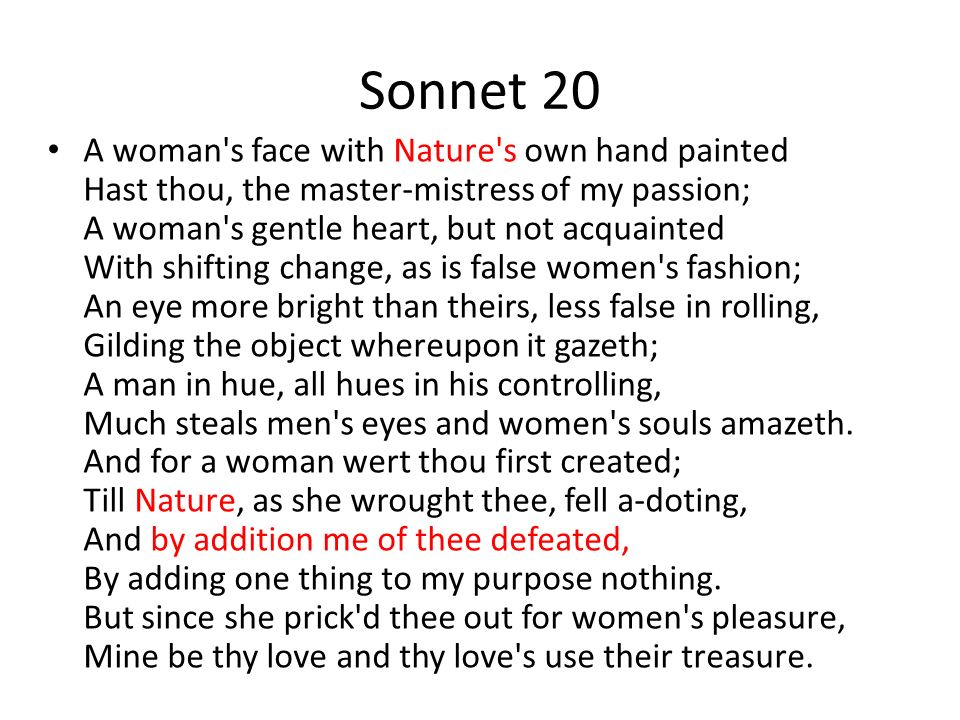 theme of sonnet 55 Summary sonnet 55 the sonnet continues this theme from the previous sonnet, in which the poet likened himself to a distiller of truth.